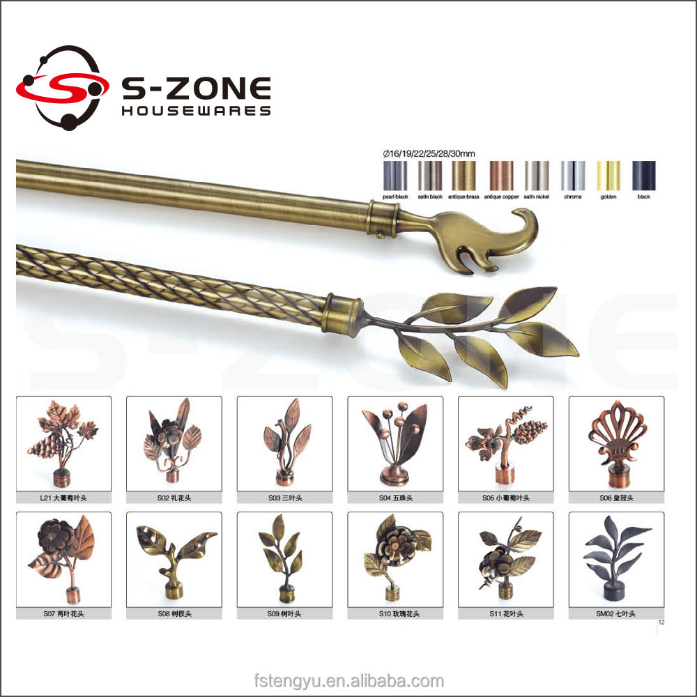 Manufacturer Brushed Nickel Curtain Rod Brushed Nickel Curtain Rod Wholesale Supplier China