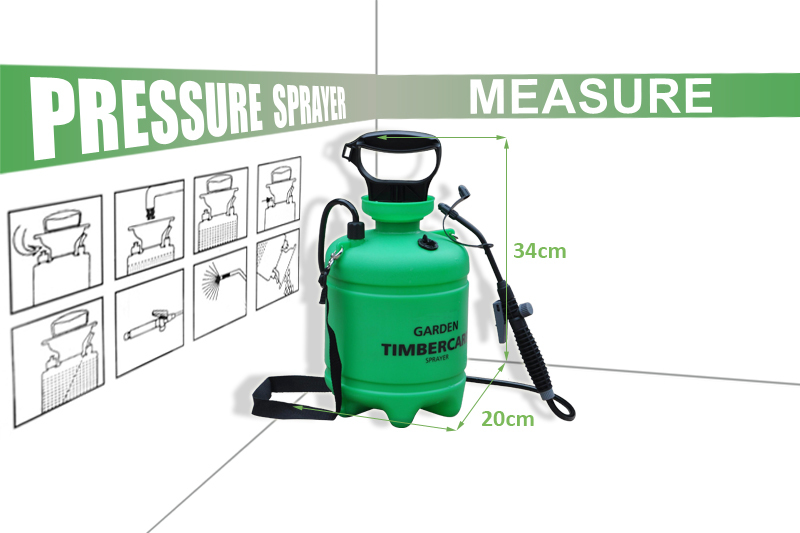 365) 5l Thick Tank Manual Hand Operated Fan-spray Pressure Airless ...