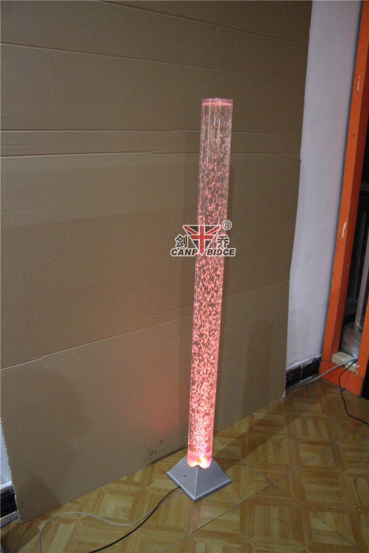 Indoor Design Led Tube Bubble Lighting Tower Base Floor Standing ...