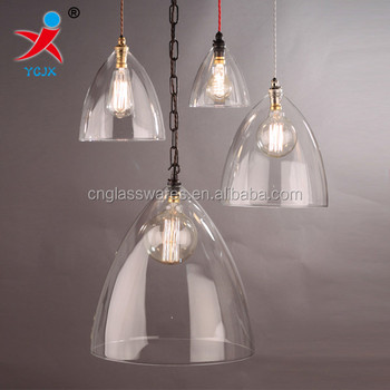 Handn Clear Bell Shape Borosilicate Gl Light Shade