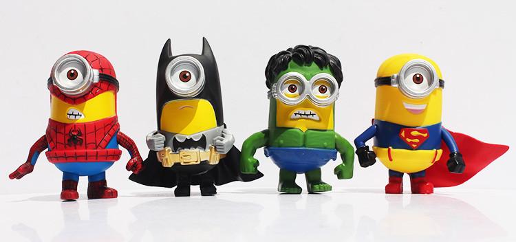 Kids Toys Action Figure: 2019 Wholesale 3D Eye Minion Cos Avengers Superheroes Iron