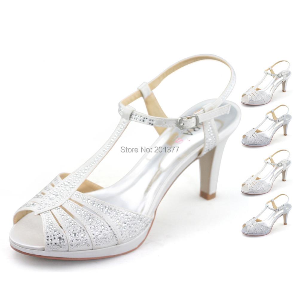 ec86e26e876c Comfortable Silver Heels - Heels Zone