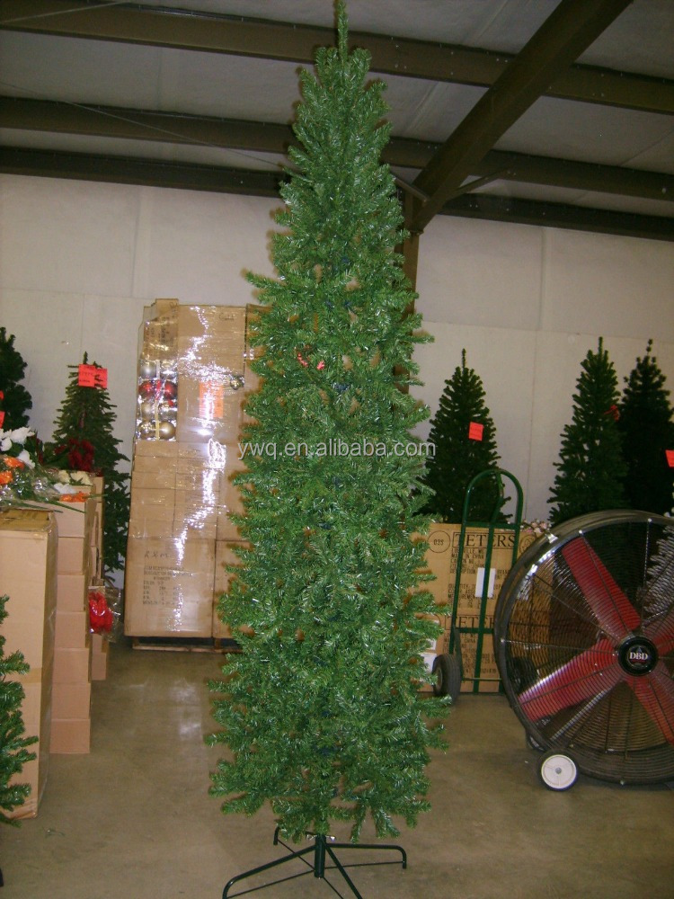 6.5 FOOT PENCIL SLIM PINE GREEN CHRISTMAS TREE BRAND 6.5 ft. tall