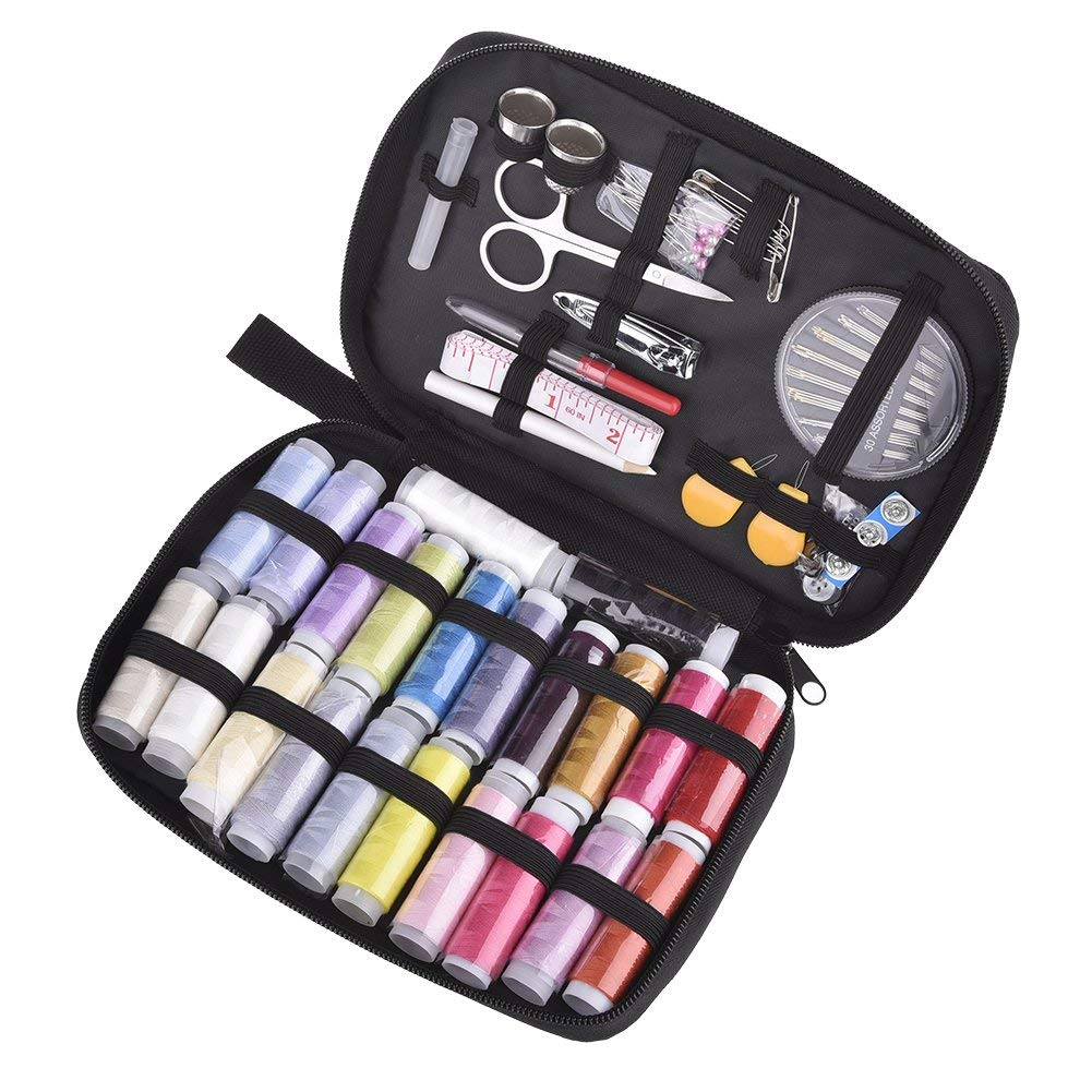 Sewing Kit Bundle,SHZONS Sewing Kit Equipped with 91 PCS Most Useful Sewing Accessories for Home, Office, Travel, Beginners & Sewing Emergency