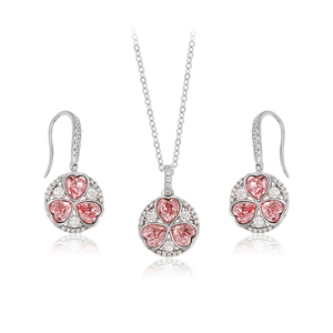 64451 Xuping jewellery diamond set, crystals from Swarovski heart fashon jewellery