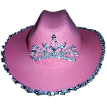 267627ef12791 pink cowgirl hat with Tiara