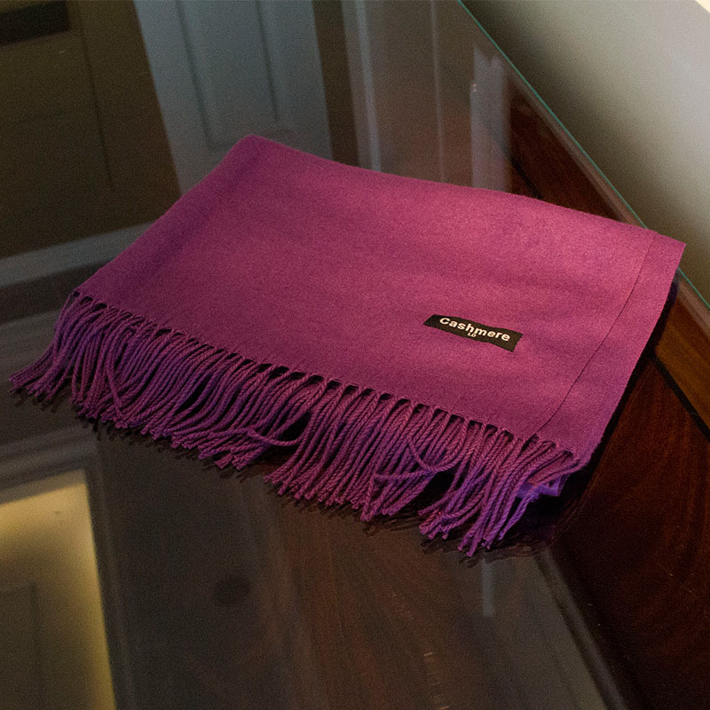 Cashmere Fashion Solid Color 175*65CM Tassel Women Winter Cashmere Scarf
