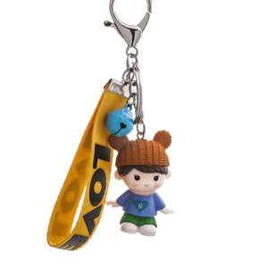 New Arrival Lovely Little Girl Keyring Metal Bell Printing Cartoon Keychain For Christmas Gifts Birthday Gifts