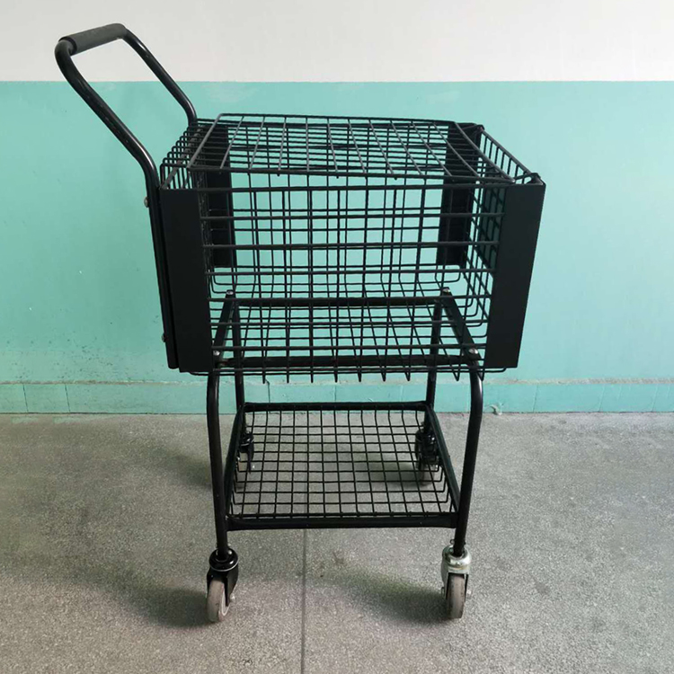Multi Function Ball Basket Trolley Cart For Tennis Baseball And Softball Training