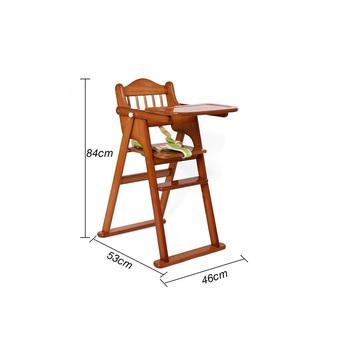 a5b3658f5 2017 Novo Modelo de Alta qualidade em madeira dobrável cadeira de  alimentação do bebê com cinto