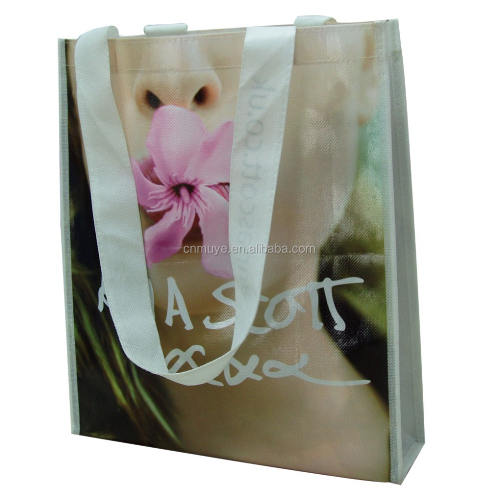 custom design promotion laminated non woven packing bag