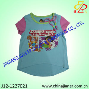 new design dora brand kids girls t-shirt child clothing