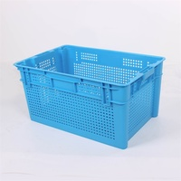 Wholesale Fruits Vegetables Stackable Nestable Mesh Plastic Crates