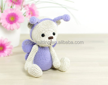 Fashion Design Yarn Diy Gift Crochet Honey Bee Bear Kit For Kids