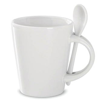 Promotional Items Sublimation ceramic Mug with spoon