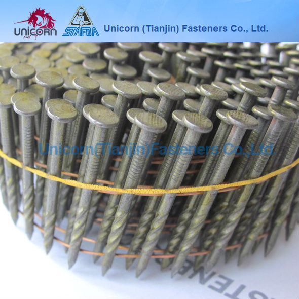 15degree pallets screwed coil nail