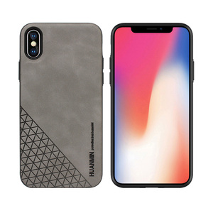 Newest Mobile Accessories For iPhone X Custom Skin Touch Leather Phone Case For Apple