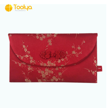 Customize hot selling Silk Chinese Traditional Wedding Red Packet New Year Brocade Red Packet