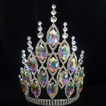 silver Shinning AB Crystal pageant tiaras