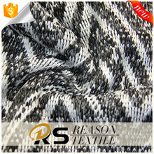 Chinese manufacture 100% polyester hacci knitting jacquard fabric for sweater