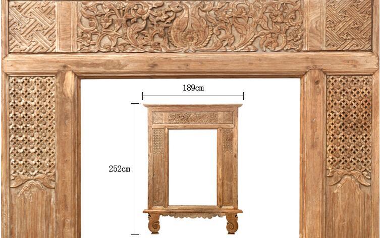 Solid Wooden Furniture Door Frame With Hand Carving Elegant Design ...