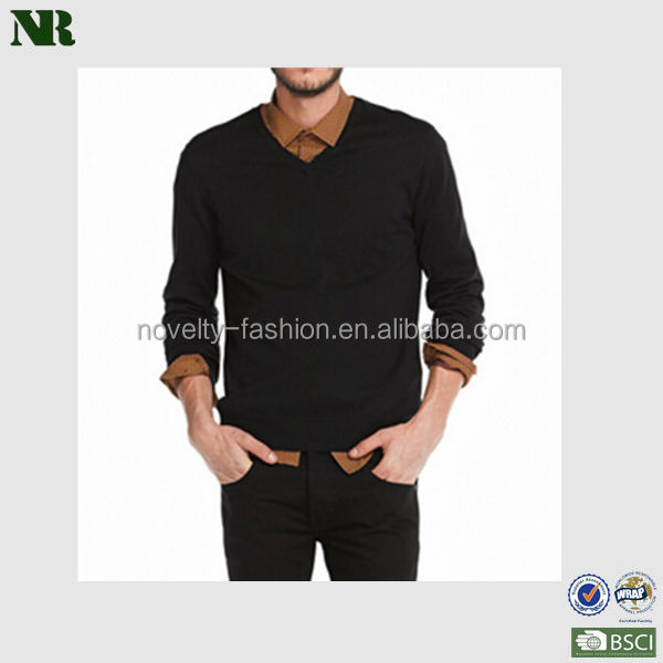 Wool Long Sleeve V Neck Pullover, High Quality ,Fashion Sweater
