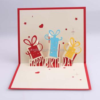 3d Pop Up Card Kids Handmade Happy Birthday Greeting
