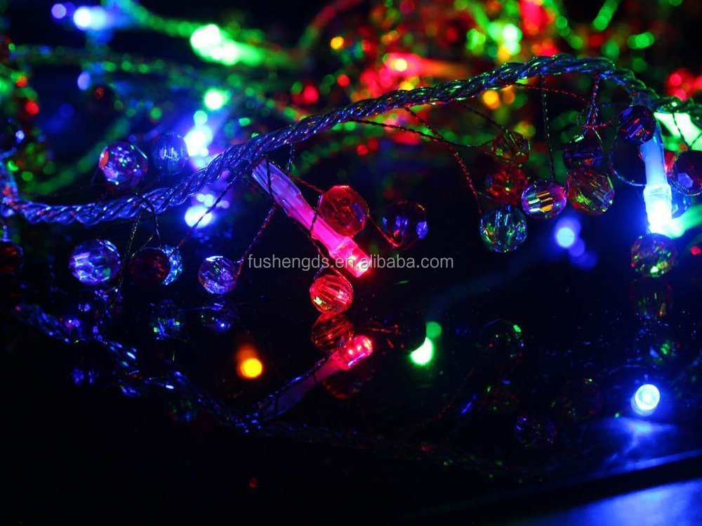 Battery Operated Multi-color Led String Lights With Multi-color ...