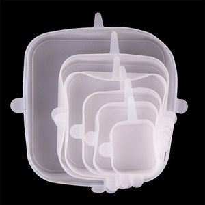 Microwave Plastic Stretch Film Square Silicone Food Cover