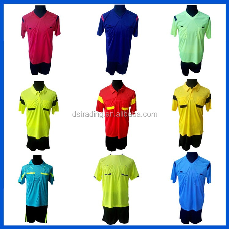 2018 New Design Wholesale Blue 100% Polyester Custom Soccer Referee Jersey c913343eb