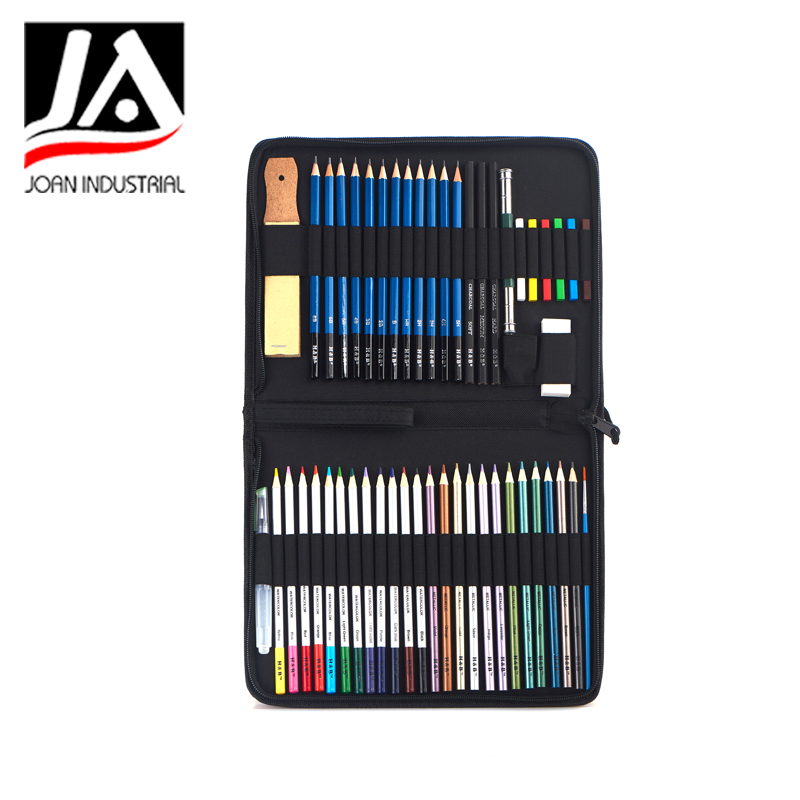51pcs sketching drawing pencil color art set