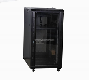 Network Cabinet 19 inch 28U Server Rack Data Enclosure With Perforated Door