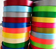huzhou factory 1 inch 25mm colorful 3 inch 75mm 100% polyester double faced satin ribbon wholesale