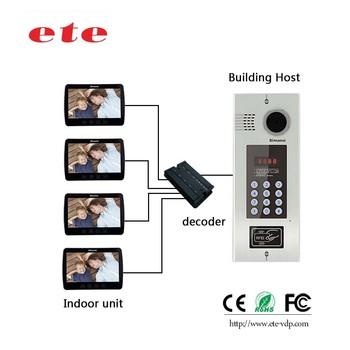 2017 Apartment Door Bell Ring With Camera Digital Knx Video Doorbell