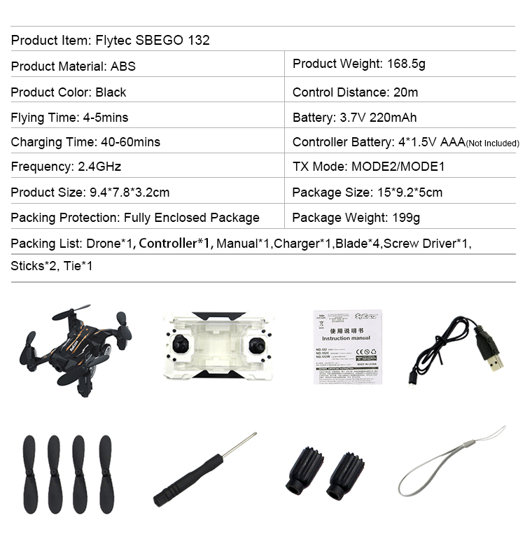 18. SBEGO_132_Black_Mini_Flying_Car_Drone_Mini_Pocket_Drone