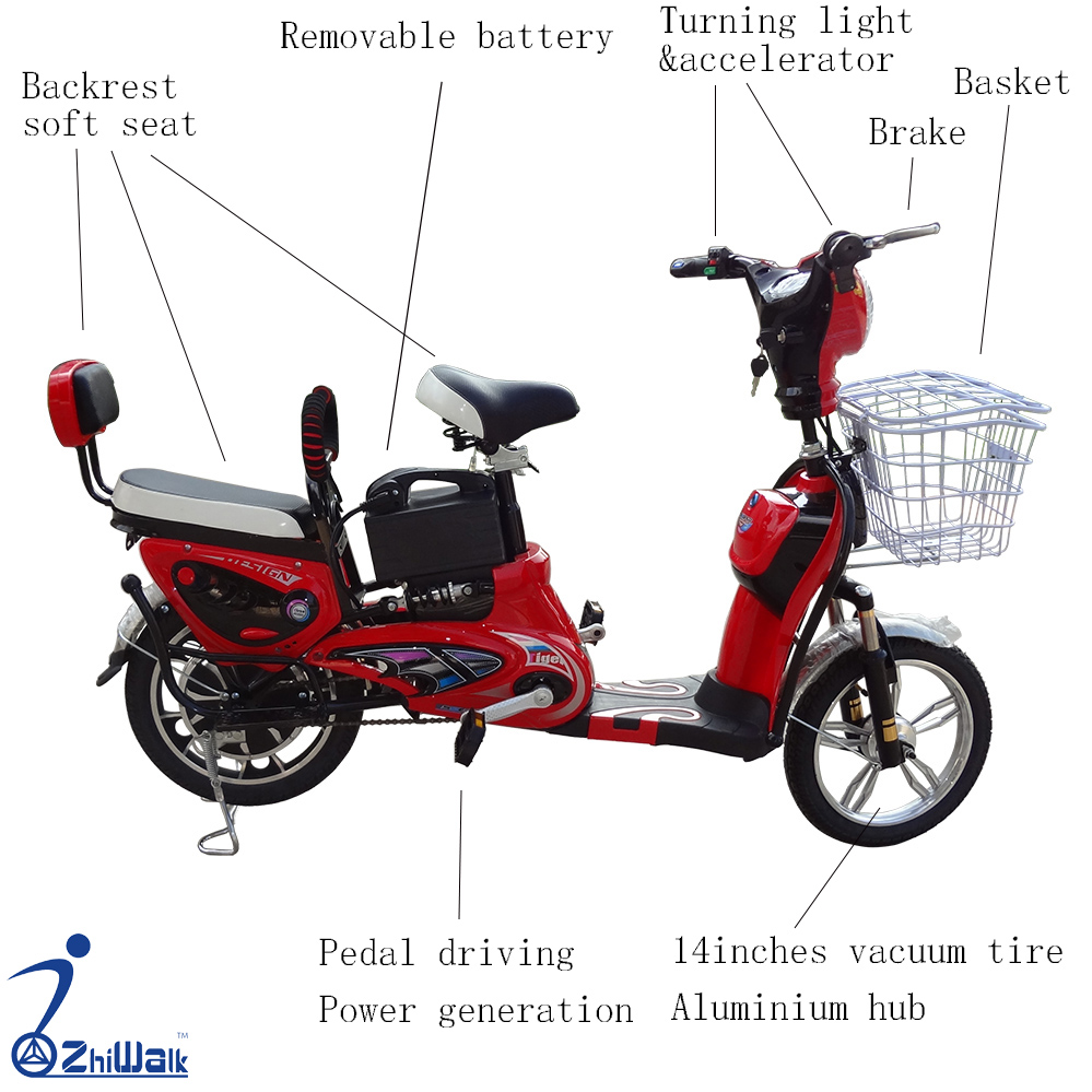 electric bicycle with pedal drive