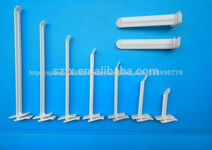 Gancho personalizado de pl stico blanco de tablero de for Ganchos de plastico