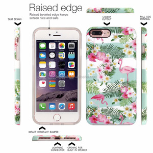 visa payment terms accepted smart phone cover for phone 7 plus , fancy printed raised edge phone case for iphone7 plus