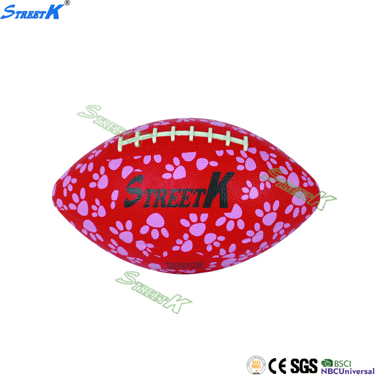 Streetk 2017 rubber plain rugby ball / official size 6 american football