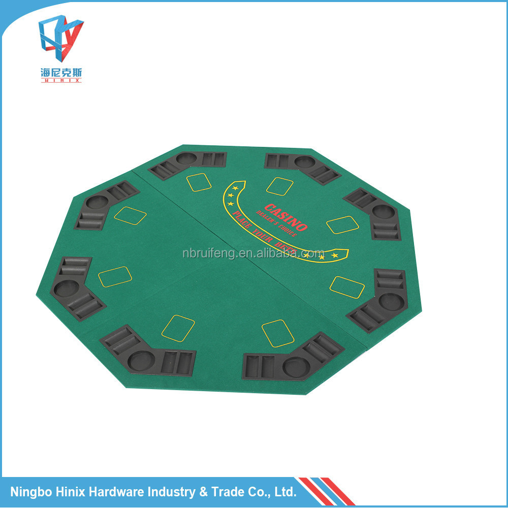 Octogonal Blackjack Poker Table Top Com Chip Bandeja e Suporte de Copo