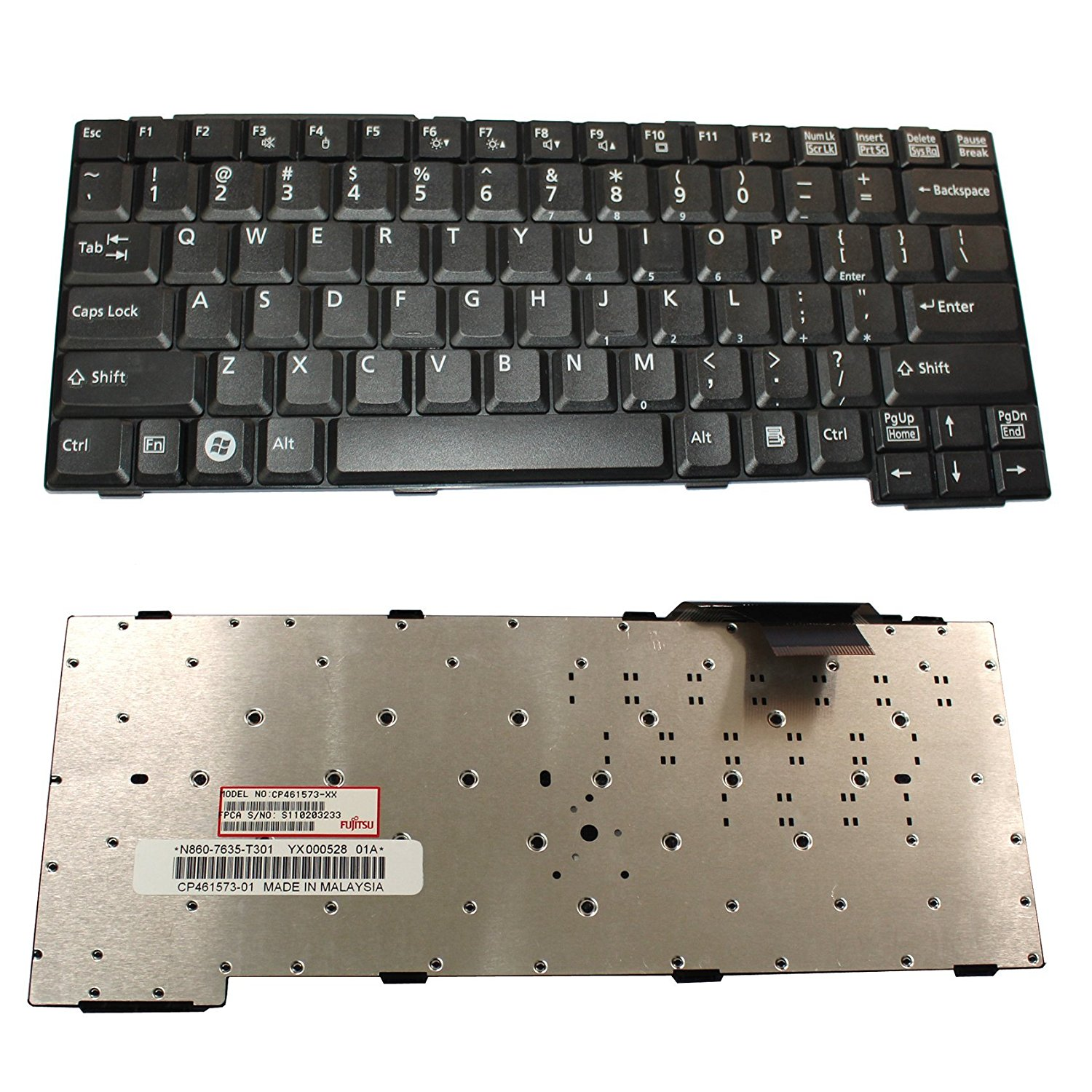 Get Quotations · Generic NEW Black QWERTY Laptop US Keyboard For Fujitsu  Lifebook E8110 E8210 T4210 T4215 S7110 S7110D