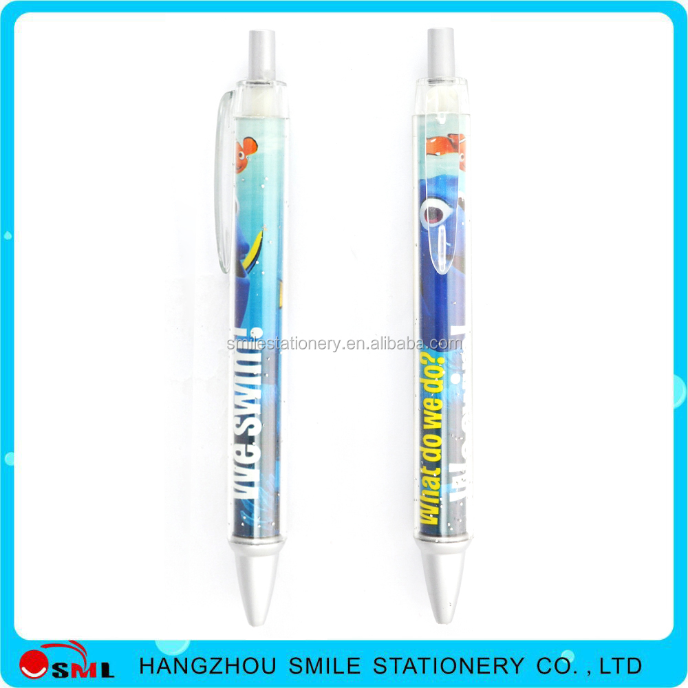 Retractable Heat transfer printing pattern film ballpoint pen for promotional