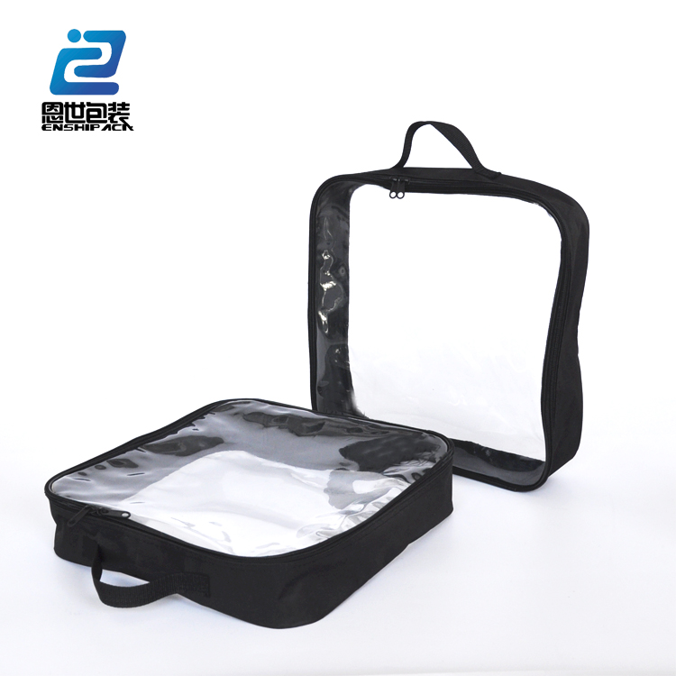 china suppliers clear vinyl pvc zipper gift cosmetic bag for sale