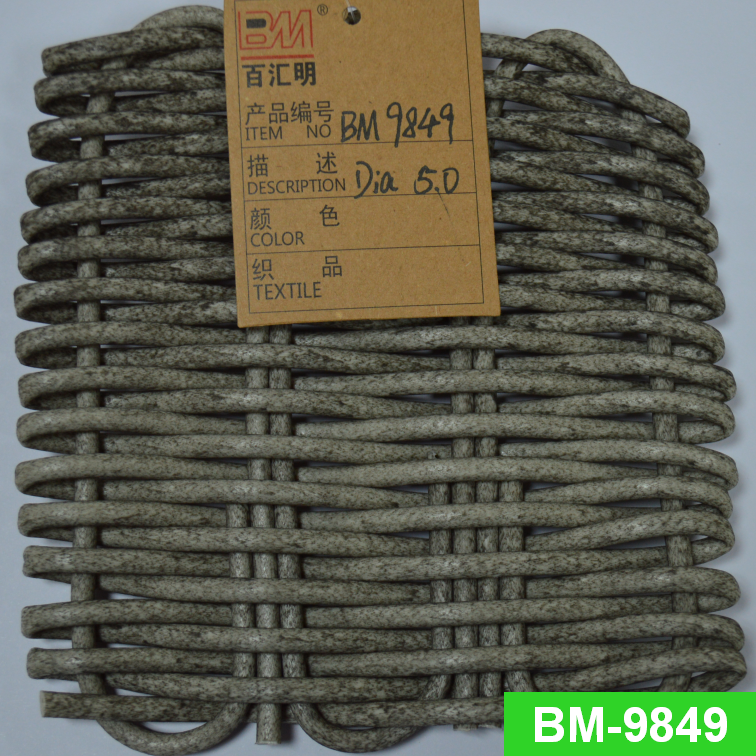Waterproof Synthetic Poly Rattan Outdoor Furniture Plastic Hand Weaving Round Wicker