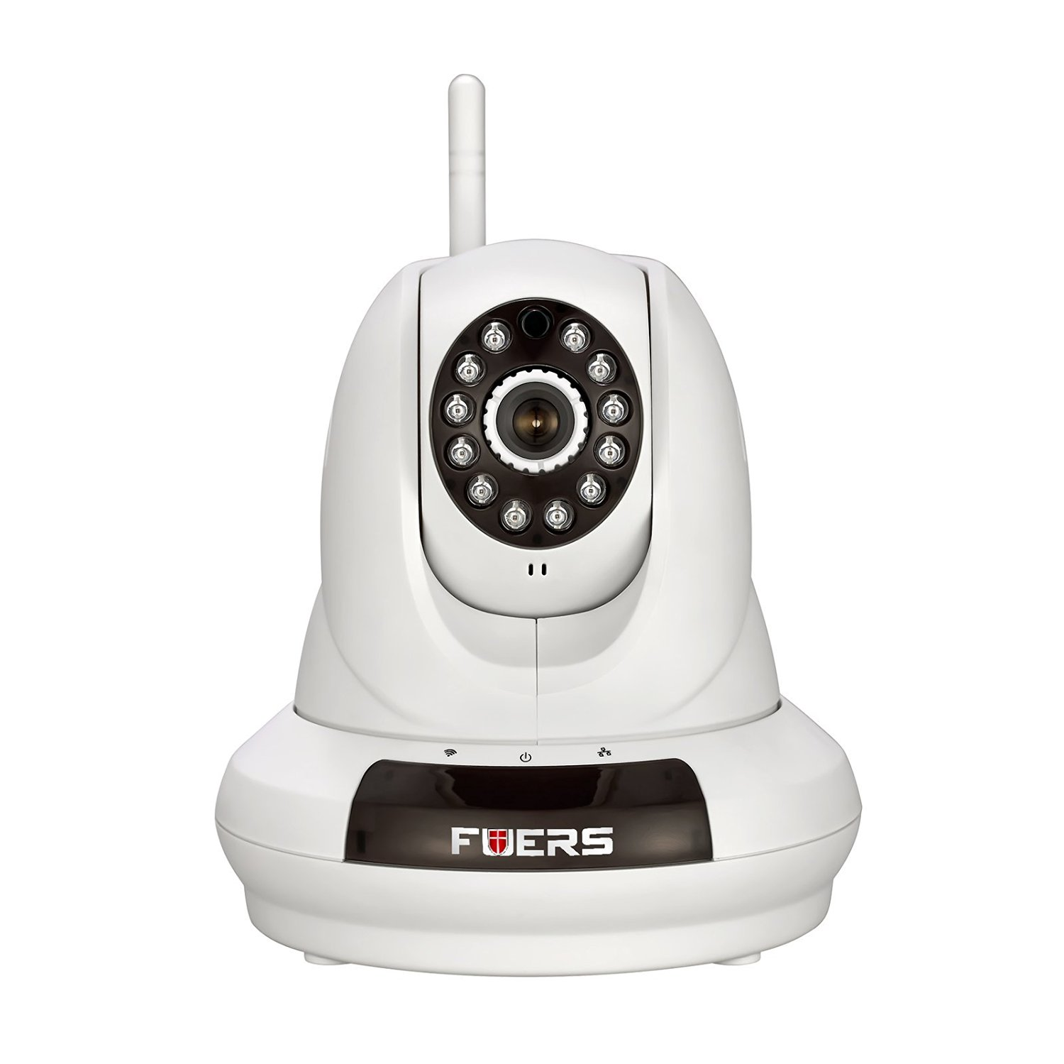 Fuers FI-366 720P WiFi Security Camera Internet Surveillance Camera,Pan/Tilt with 2-Way Audio,Baby Video Monitor, Night Vision Wireless IP Webcam (White-720P)