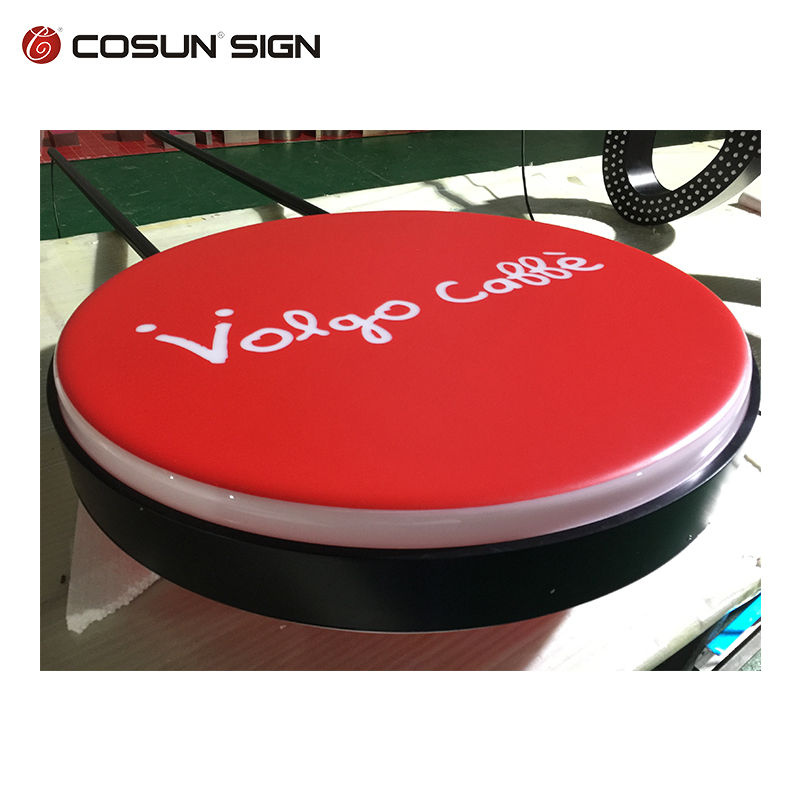 High quality Super Market Vacuum Forming Led Round Lighting Box