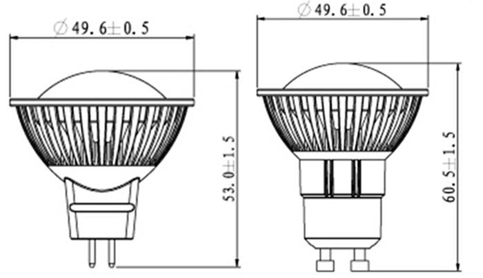2014 mr16 gu5 3 led lamp 12v 5w led spot light mr16 spot