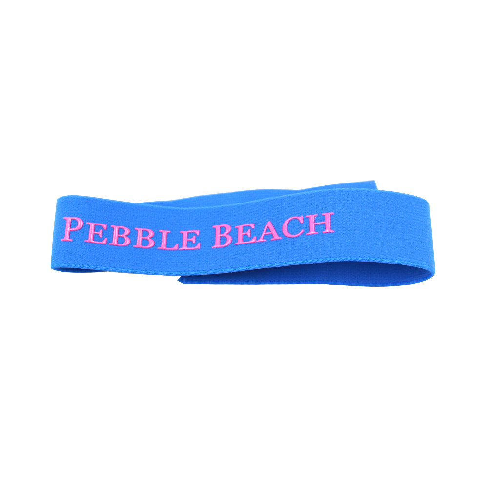 Custom logo jacquard sublimation elastic band for shoes