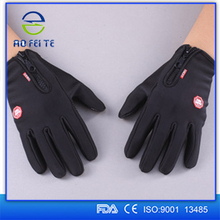 Alibaba China Factory Comfortable Customized Black Sport Smart Screen Touch Gloves