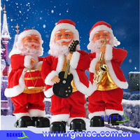European standard Christmas decoration 35 cm christmas dancing and singing santa claus